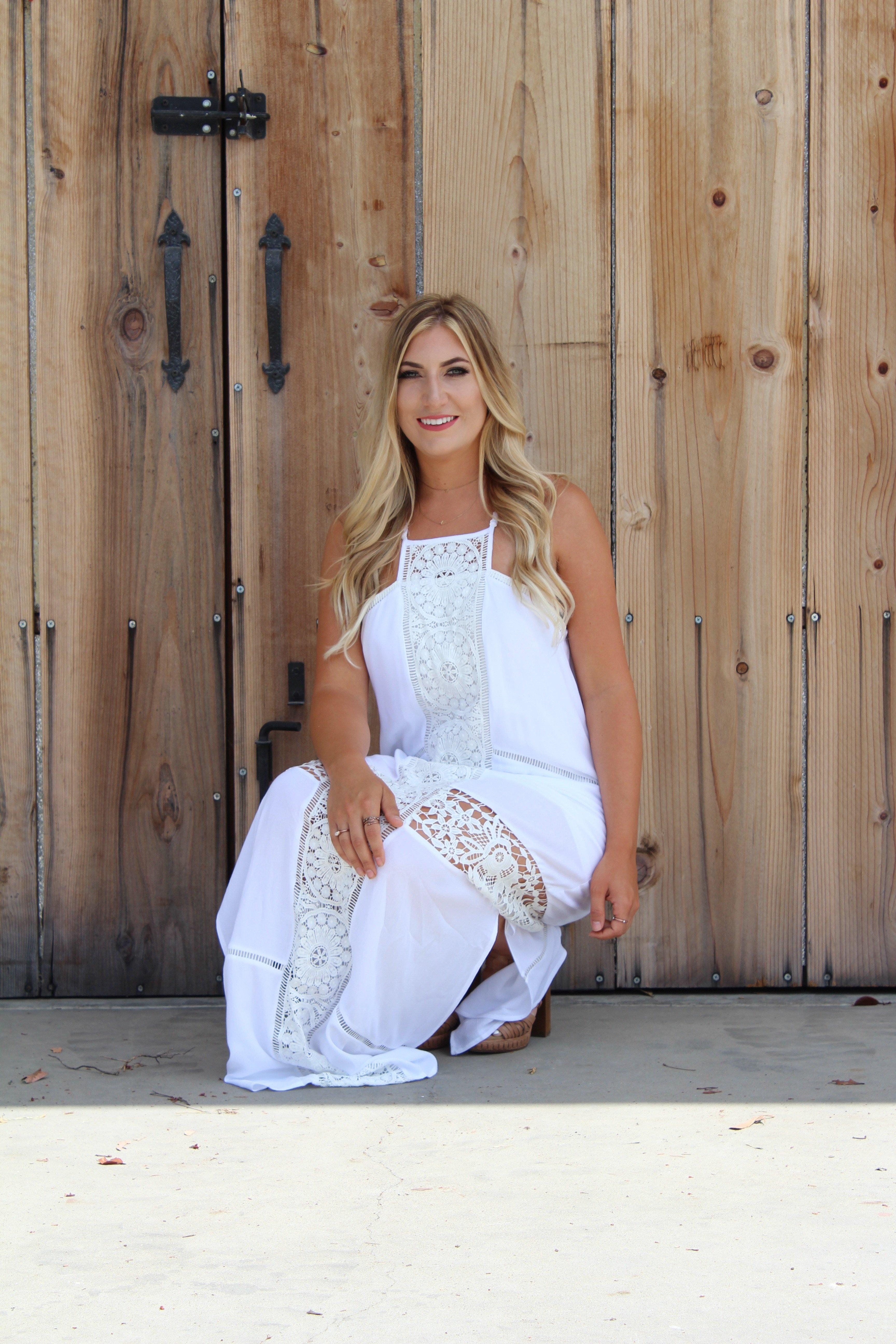 Back In Love Maxi Dress - White
