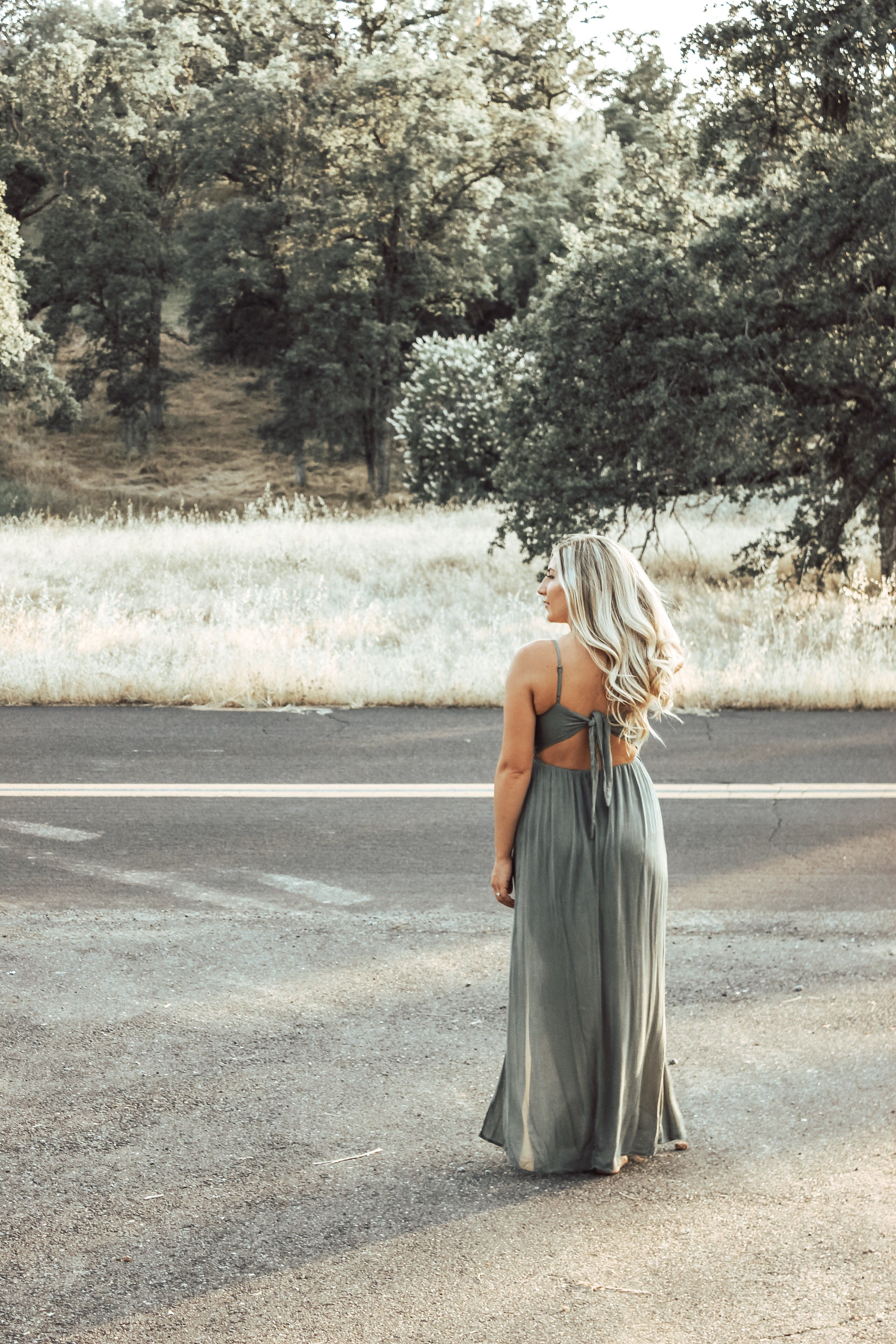 Young Love Maxi Dress - Olive
