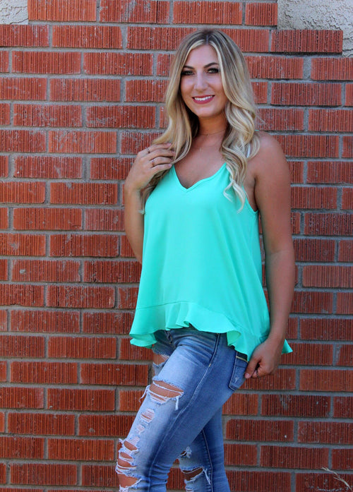 Living The Breezy Life Blouse - Soft Jade