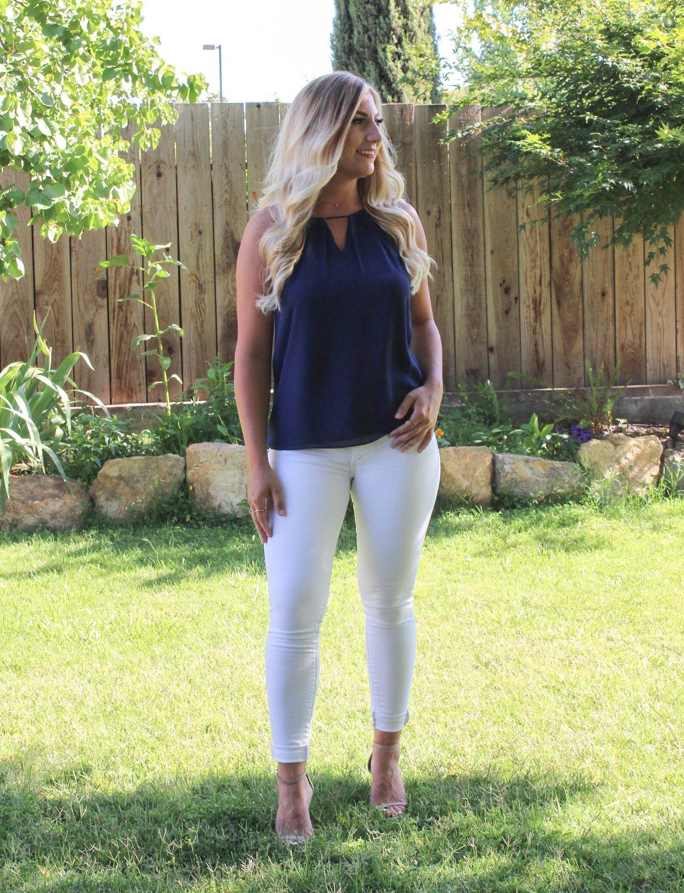 Think Twice Blouse - Navy