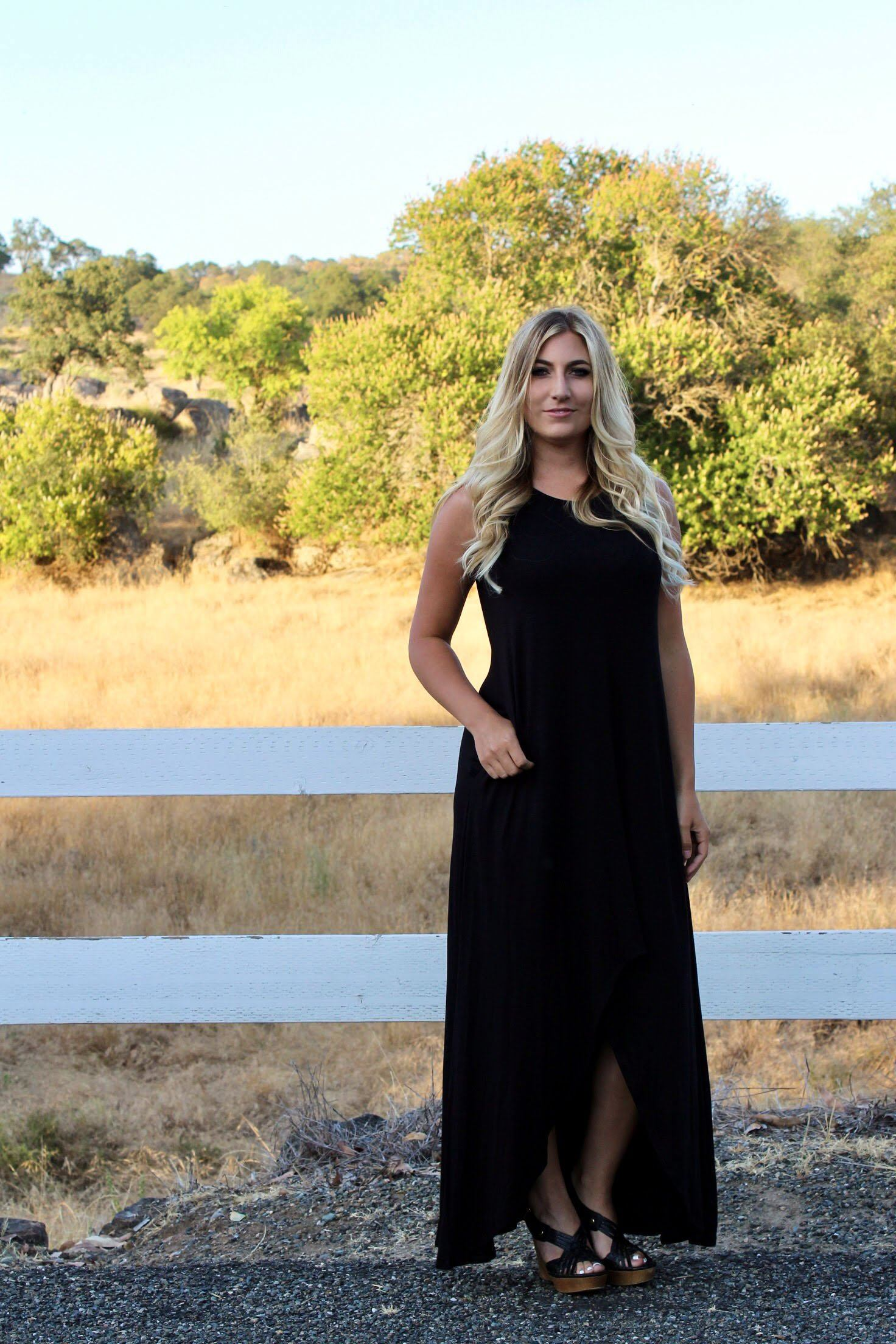 What You Wished For Maxi Dress - Black
