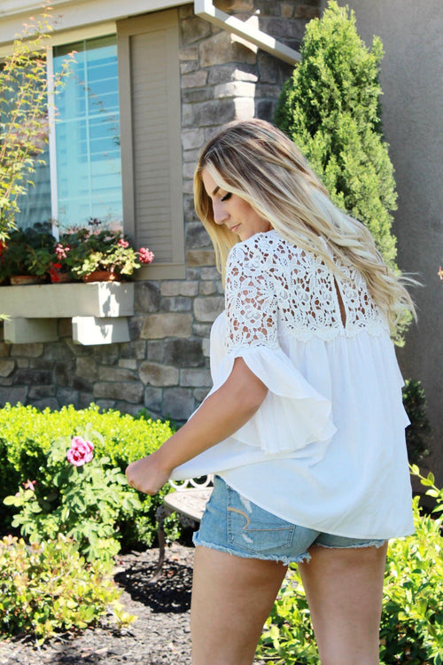 Something About You Blouse - White