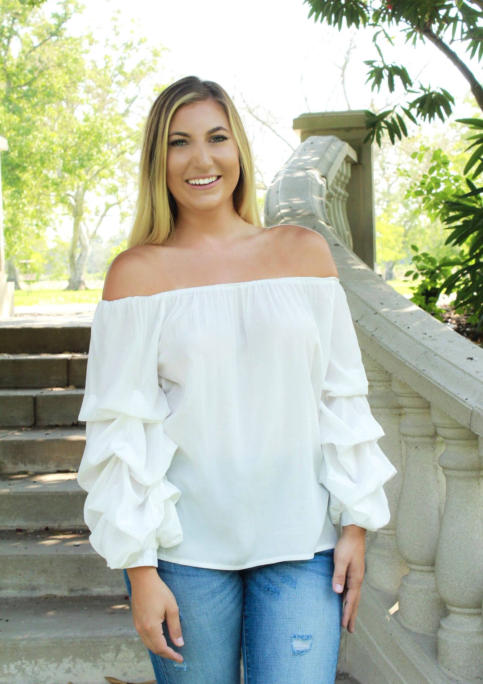 Field Of Dreams Blouse - White