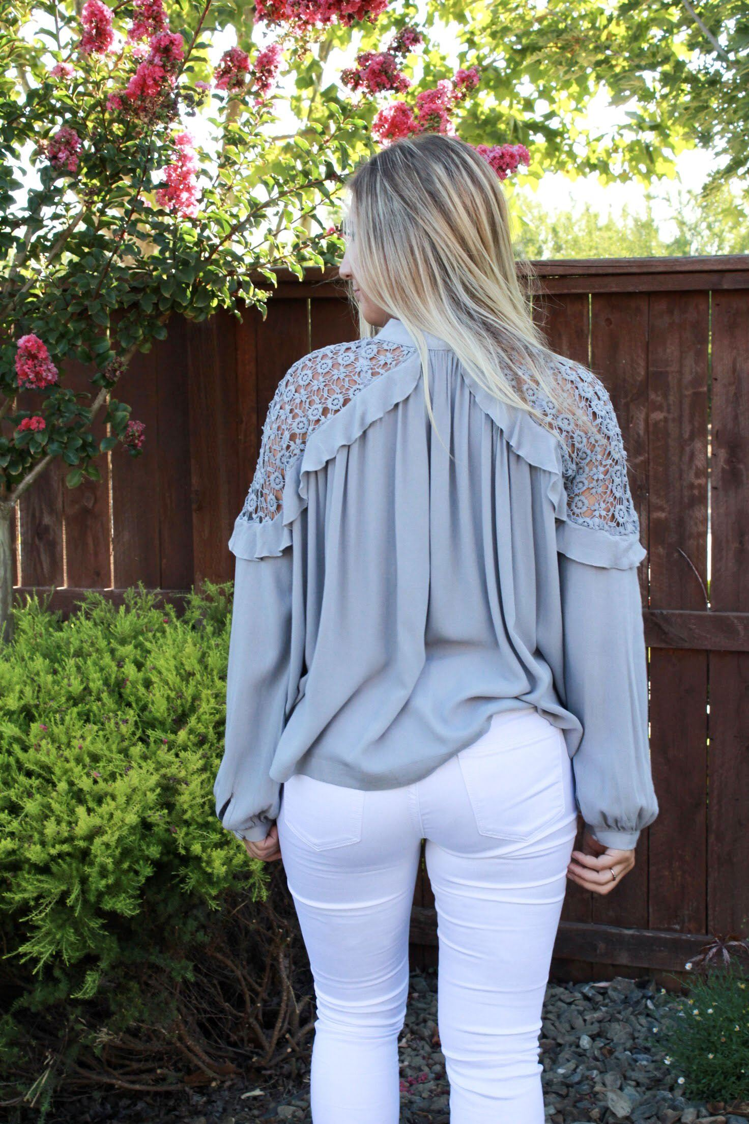 Sincerely Yours Blouse - Grey