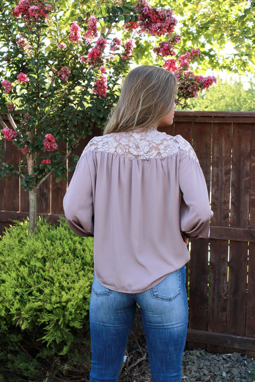 Slice Of Heaven Blouse - Dust Pink