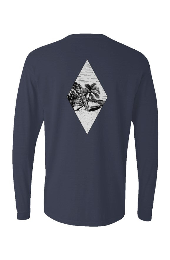Pigment Dyed Heavyweight Long Sleeve T Shirt
