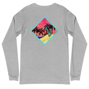 The Beach is Hot Long Sleeve T (Classic Front Logo)