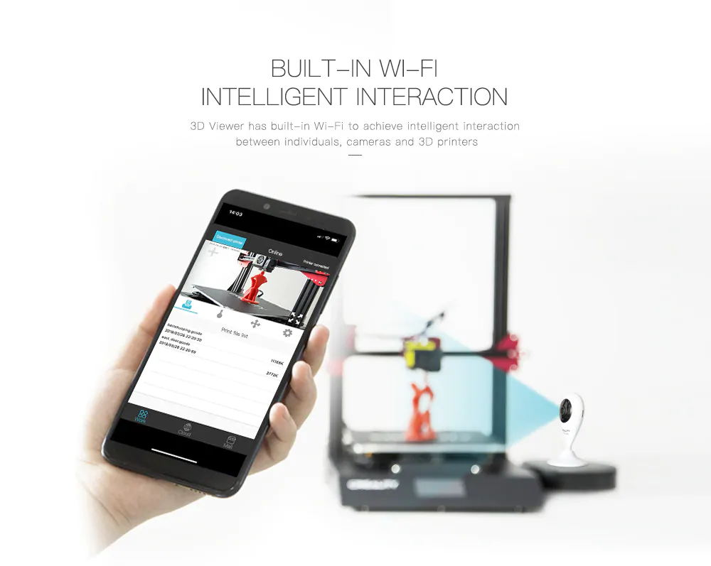 3D Viewer Remote Intelligent Monitor HD Camera WiFi Function for 3D Printer Cameras Monitor