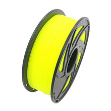 PLA 3D Printer Filament, 1.75mm, 1kg Spool, Fluorescent Yellow