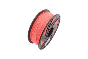 Glow PLA 3D Printer Filament, 1.75mm, 1kg Spool, Luminous Orange