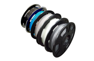 Outlet PLA 3D Printer Filament, 1.75mm, 200g x 5 Pack - Black, Silver, Transparent, White, Blue