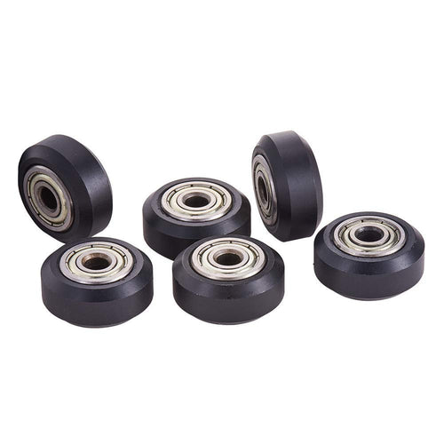5Pcs Carbon Steel Wheel Deep Groove Ball Bearing For 3D Printer CR-10S CR-10 FA