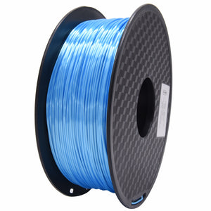 PLA 3D Printer Filament, 1.75mm, 1kg Spool, Silk Sky Blue