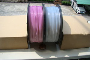UV Light Color Change PLA 3D Printer Filament, 1.75mm, 1kg Spool, White to Purple