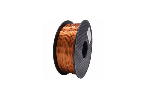 PLA 3D Printer Filament, 1.75mm, 1kg Spool, Silk Copper