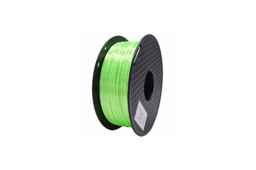 PLA 3D Printer Filament, 1.75mm, 1kg Spool, Silk Green
