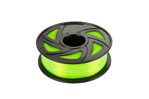 PLA 3D Printer Filament, 1.75mm, 1kg Spool, Fluorescent Light Green