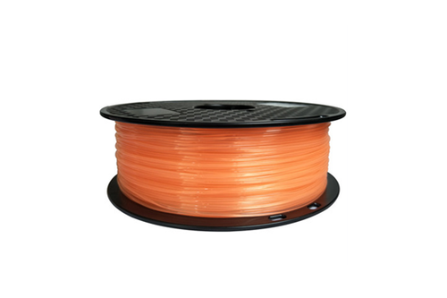 Creality3D PLA 3D Printer Filament, 1.75mm, 1kg Spool, Transparent Orange