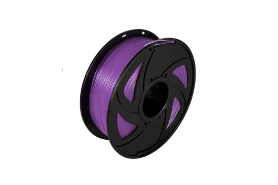 PLA 3D Printer Filament, 1.75mm, 1kg Spool, Transparent Purple