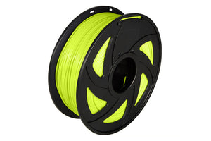 3D Printer Luminous Yellow Color Noctiucent PLA Filament 1.75mm Accuracy +/- 0.05 mm 1kg