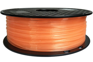 3D Printer Transparent Orange PLA Filament 1.75mm Accuracy +/- 0.05 mm 1kg