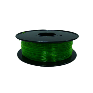 Flexible TPU 3D Printer Filament, 1.75mm, 0.8kg Spool, Transparent Green