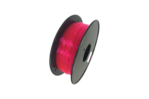 Flexible TPU 3D Printer Filament, 1.75mm, 0.8kg Spool, Transparent Pink