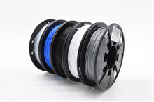 PLA 3D Printer Filament, 1.75mm, 200g x 5 Pack - Black, Silver, Transparent, White, Blue