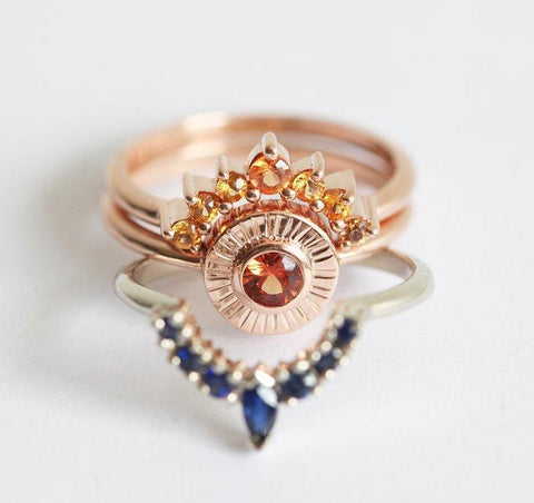 Sunset Ring Set