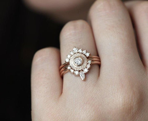 Diamond Sunset Ring Set