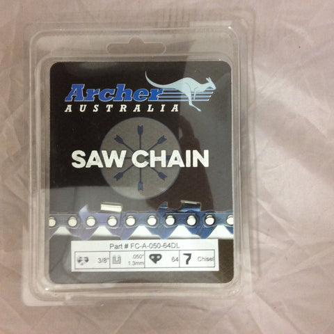 "18"" Chainsaw Chain loop 3/8"" .050 64DL CHISEL replaces 72LGX064G ECHO CS590 D64"
