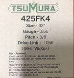 "32"" TsuMura LIGHT WEIGHT Guide Bar 3/8-050-105DL Makita Husqvarna Jon 280RNDD009"