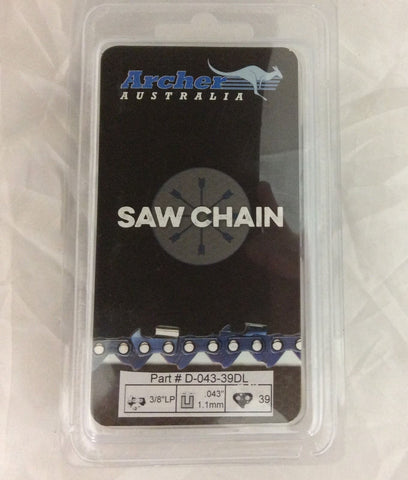 "10"" Chainsaw Chain 3/8LP .043 39DL repl. ECHO POLE PRUNER PPF-225 PPT-260 PP1200"