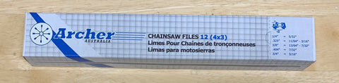 "1 -12 pk 1 dozen 11/64"" 4.5mm Archer chain saw round files for .325 Chisel chain"