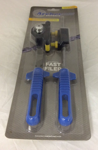 "NEW! chainsaw sharpening tool kit FAST FILER 3/16"" .325 pitch chain with files"