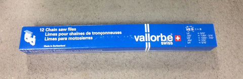 "Vallorbe 1 - 12 pk 1 dozen 7/32"" 5.5mm chain saw round files"