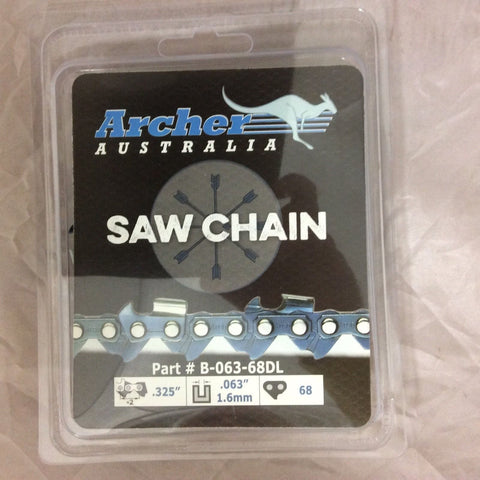 """18/"""" For Archer Chainsaw Chain .325 pitch FULL CHISEL .050 Gauge 72 DL drive link"""
