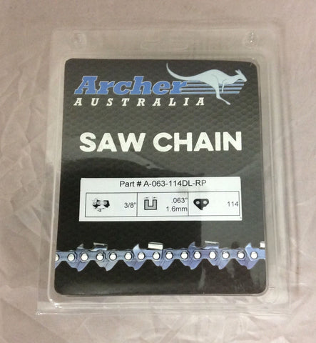 "36"" 3/8-063-114DL Archer Ripping Chainsaw Chain replaces 75RD114G A3EP-RP-114E"