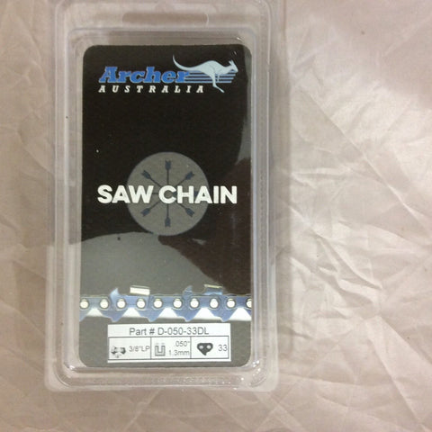 "8"" Chainsaw Saw Chain repl. 91PJ033X 91PX033G 3/8LP .050 33DL Chicago 68862 S33"