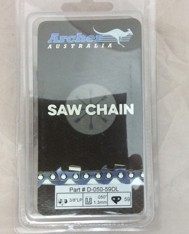 "16"" Chainsaw Saw Chain 3/8"" LP .050 Gauge 59DL replaces 91VXL059G Y59 S59"