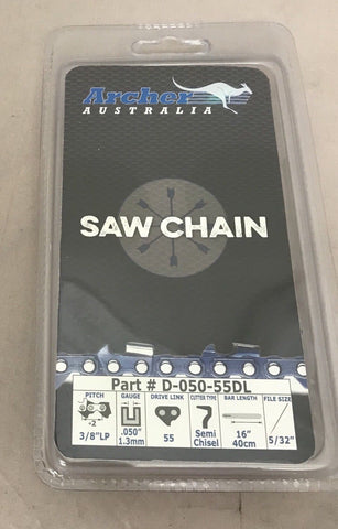 "16"" Chainsaw Saw Chain Blade 3/8""LP .050 55DL 009 010 017 MS181 MS210 Stihl S55"