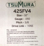 "32"" TsuMura Guide Bar 3/8-050-105DL Makita Husqvarna Jonsered Dolmar 320RNDD009"