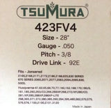 "28"" TsuMura Guide Bar 3/8-050-92DL Makita Husqvarna Jonsered Dolmar 280RNDD009"