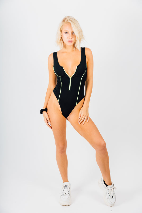 Black/Neon Bodysuit