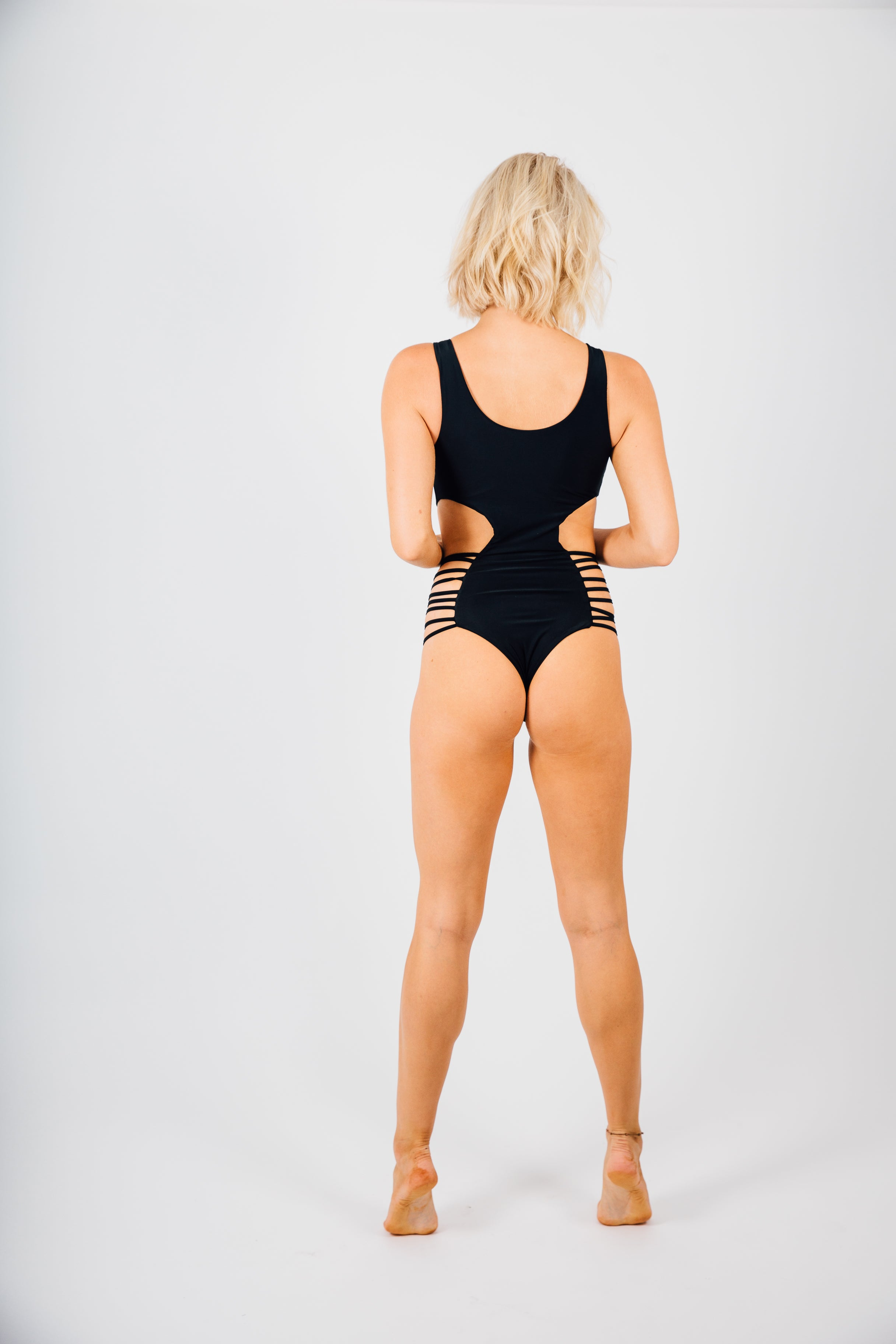 Sexy Strappy Side Cut Out One Piece