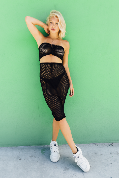 Mesh Cut-Out Bodysuit