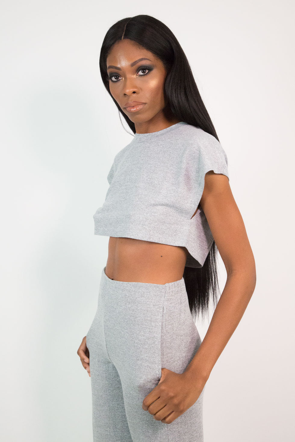 Heather Grey Crop Top