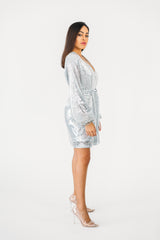 Sequins Wrap Dress