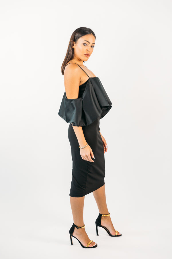 Ruffled Fitted Dress