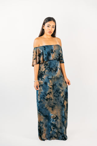 Velvet Sheer Long Dress